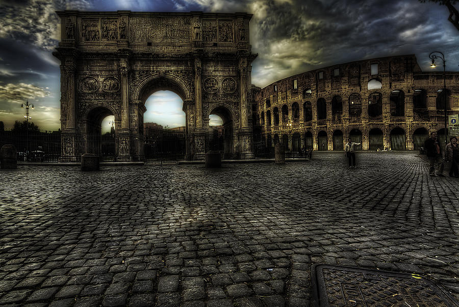 One Evening In Rome Photograph  - One Evening In Rome Fine Art Print