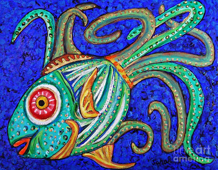 One Fish Painting  - One Fish Fine Art Print