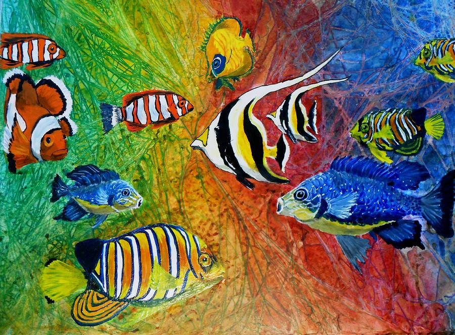 One Fish Two Fish Painting  - One Fish Two Fish Fine Art Print