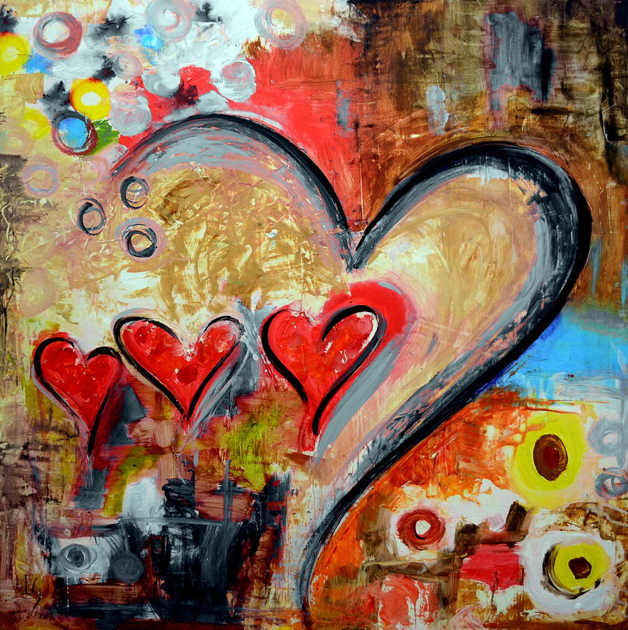 Heart Paintings Bursting With Color