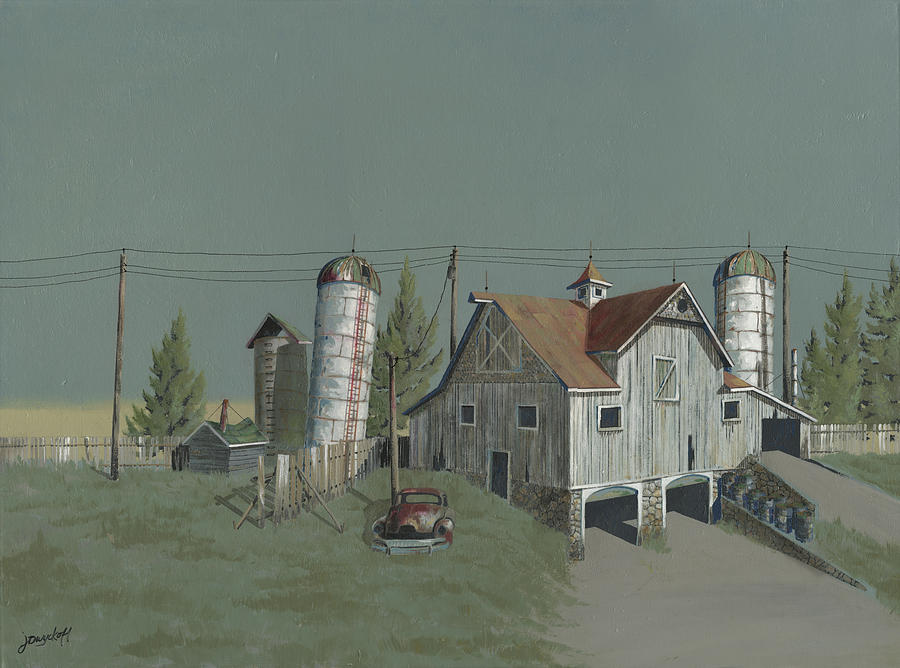 Silo Painting - One Mans Castle by John Wyckoff