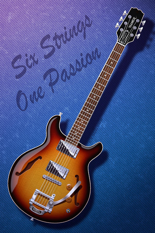 Guitar Digital Art - One Passion by WB Johnston