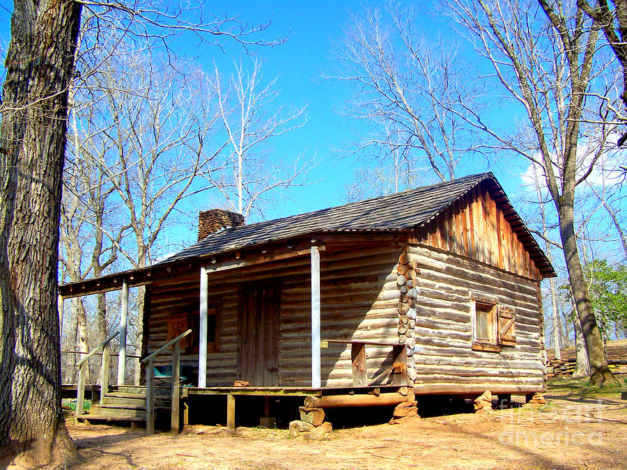 one room pioneer log cabin photograph by kathy white