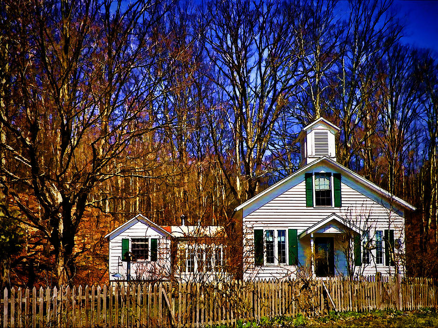 One Room Schoolhouse  Ulster County Ny Photograph