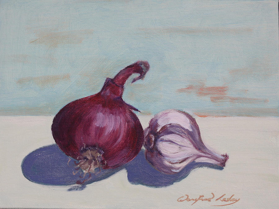 Onion And Garlic Painting