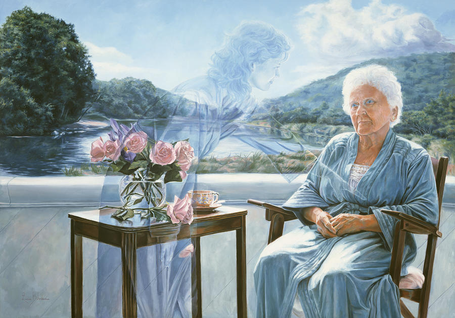 Spiritual Painting - Only The Body Withers by Lucie Bilodeau