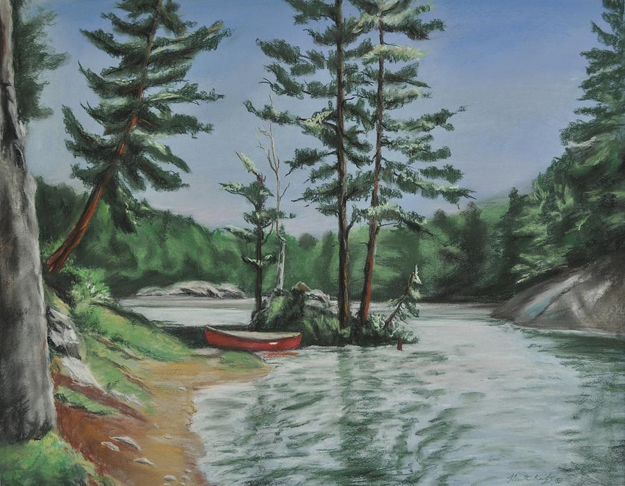 Canoe Painting - Ontarios Jewel by Heather Kertzer