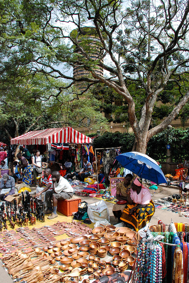 Open Air Arts Market Downtown Nairobi Kenya Photograph