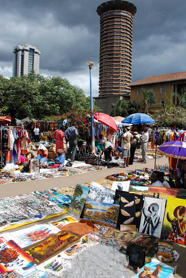 Open Air Arts Market Near Kanu Towers Nairobi Kenya Photograph