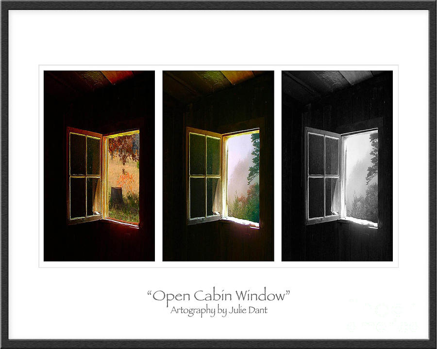 Open Cabin Window Trio Photograph  - Open Cabin Window Trio Fine Art Print