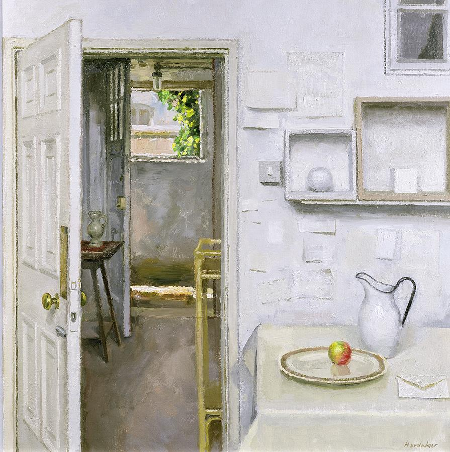 Open Doors With Still Life And Letter Painting  - Open Doors With Still Life And Letter Fine Art Print