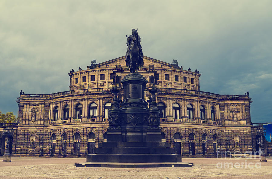 Dresden Pyrography - Opera House In Dresden by Jelena Jovanovic