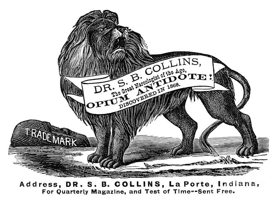 Opium Antidote, 1876 Photograph