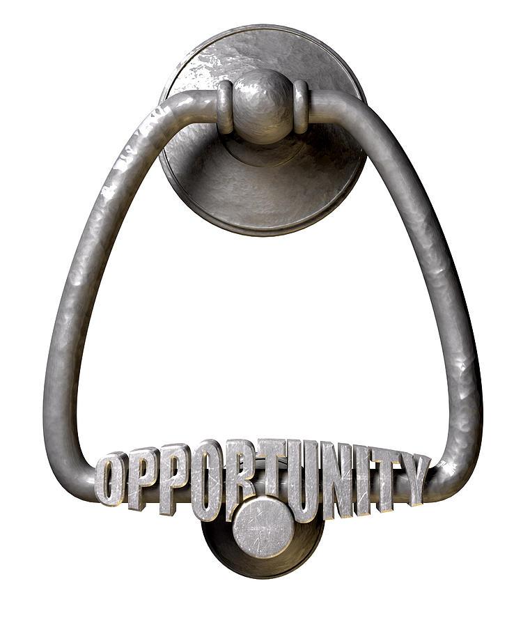 Opportunity Knocks Door Knocker Digital Art