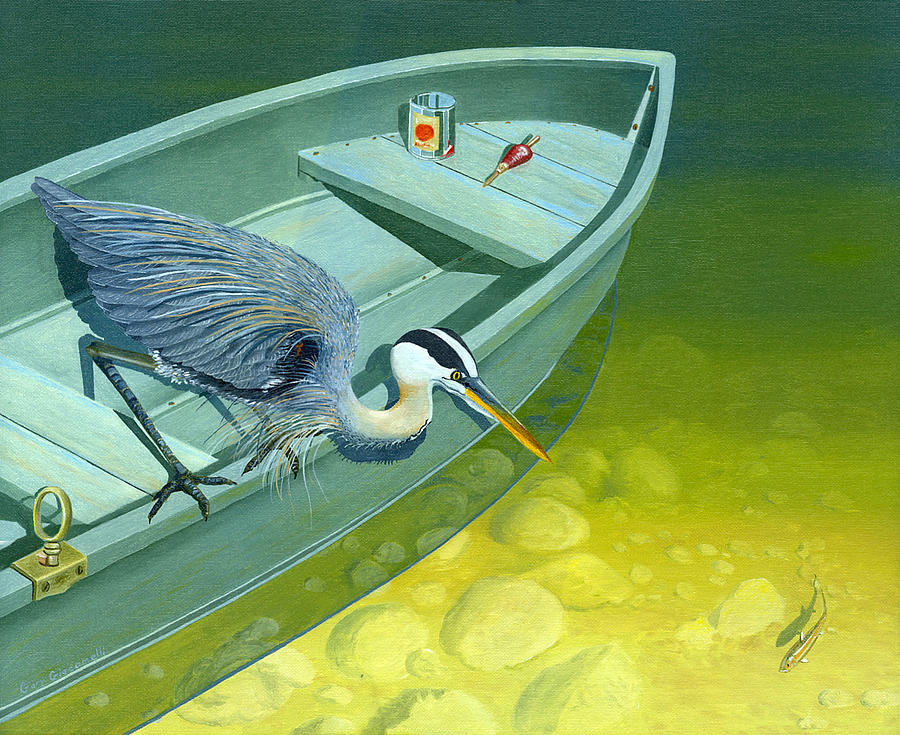 Opportunity-the Great Blue Heron Painting