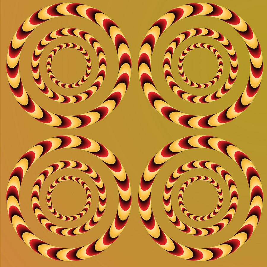 Waves Digital Art - Optical Ilusions Summer Spin by Sumit Mehndiratta