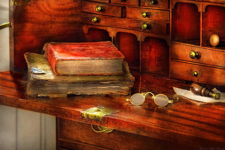 Optometrist - Glasses - The Secretary Photograph  - Optometrist - Glasses - The Secretary Fine Art Print