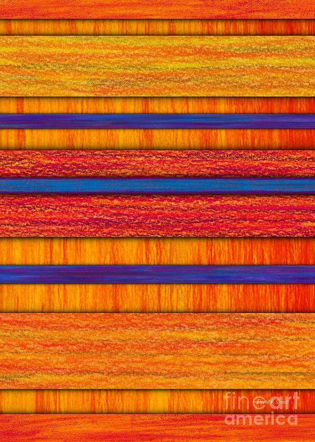 Colored Pencil Painting - Orange And Blueberry Bars by David K Small