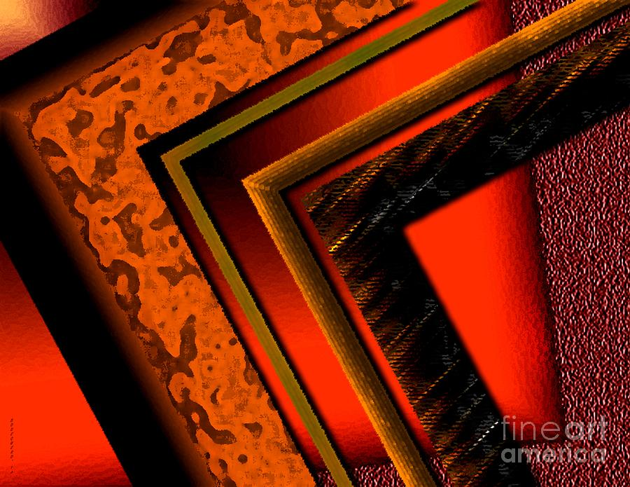 Orange And Brown  Digital Art