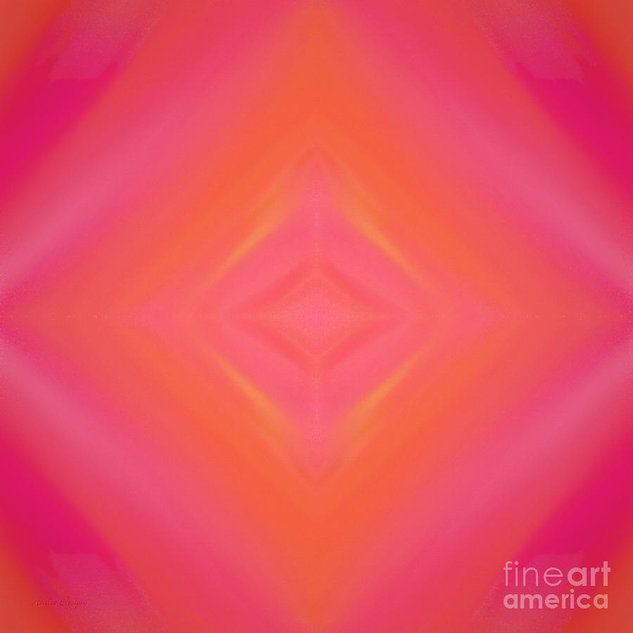 Andee Design Abstract Digital Art - Orange And Raspberry Sorbet Abstract 4 by Andee Design