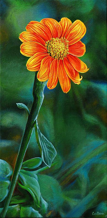 Orange Aster Painting