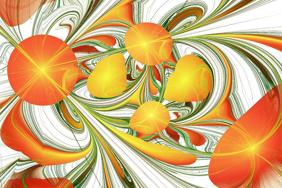 Orange Attitude Digital Art