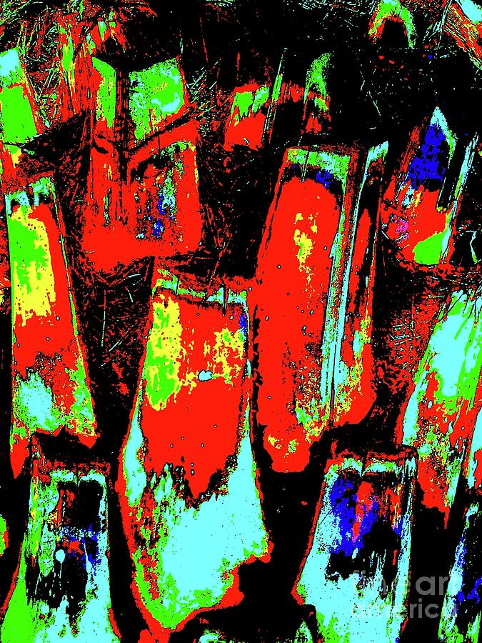 Orange Bark 0001 7 Digital Art  - Orange Bark 0001 7 Fine Art Print