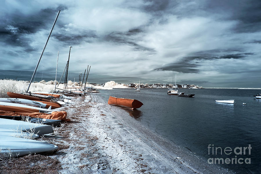 Orange Boat In The Water Photograph  - Orange Boat In The Water Fine Art Print