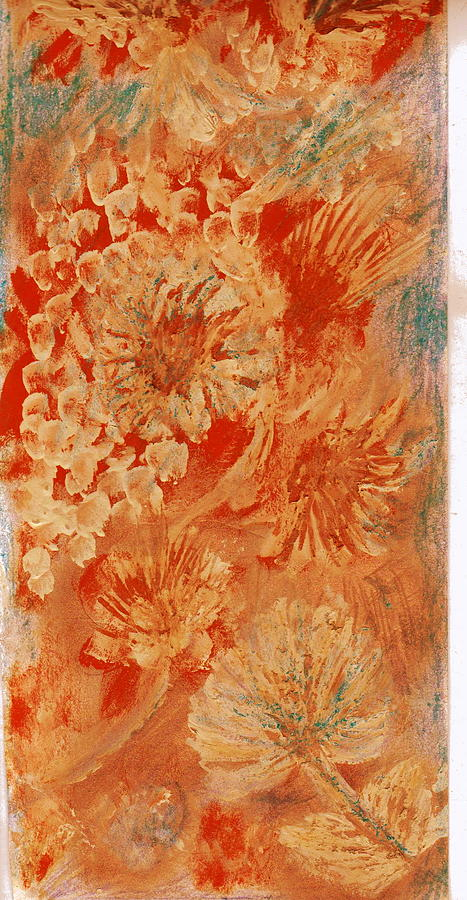 Orange Fantasia Painting  - Orange Fantasia Fine Art Print