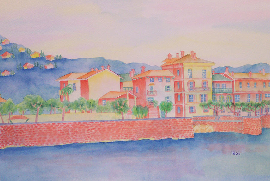 Orange Fishermans Island Painting