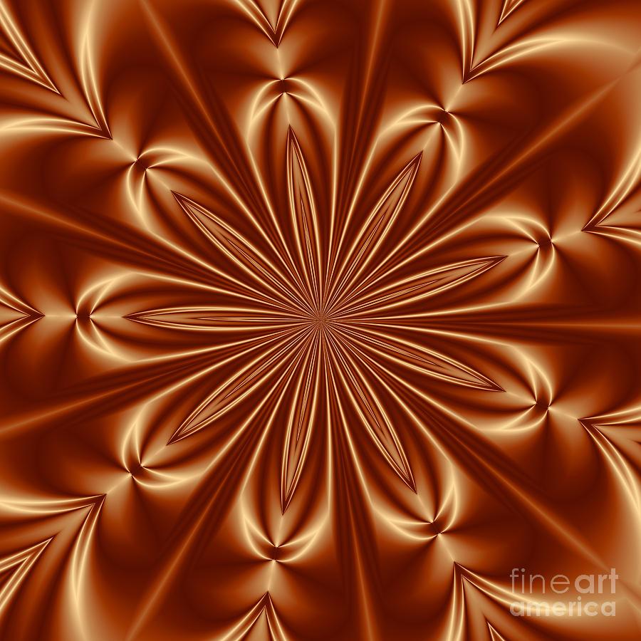 Orange Flower Burst Photoart Digital Art