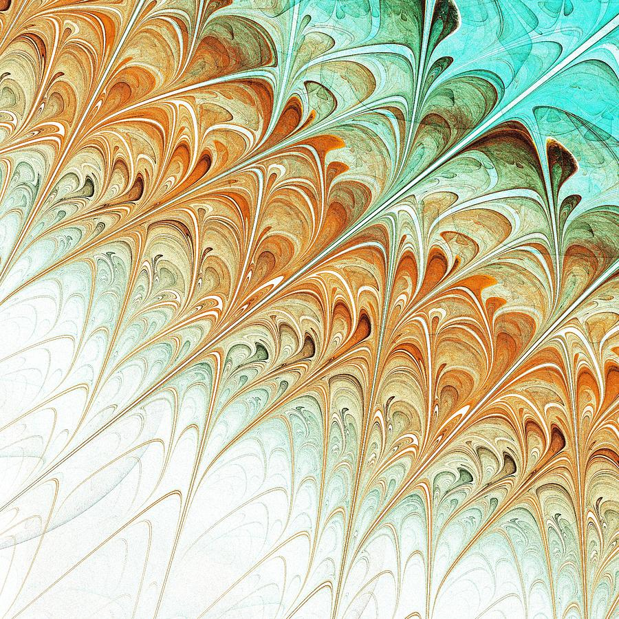 Orange Folium Digital Art