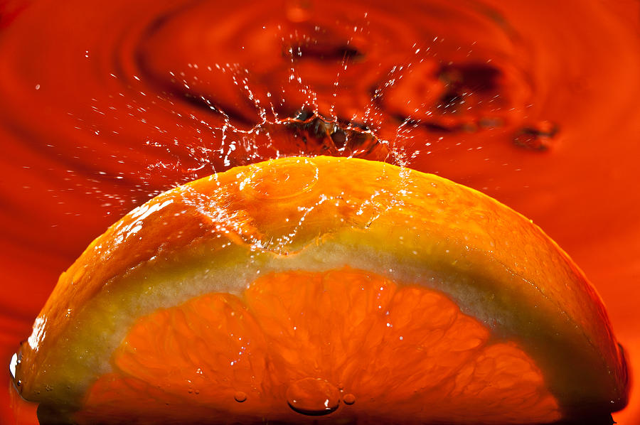 Orange Freshsplash 2 Photograph