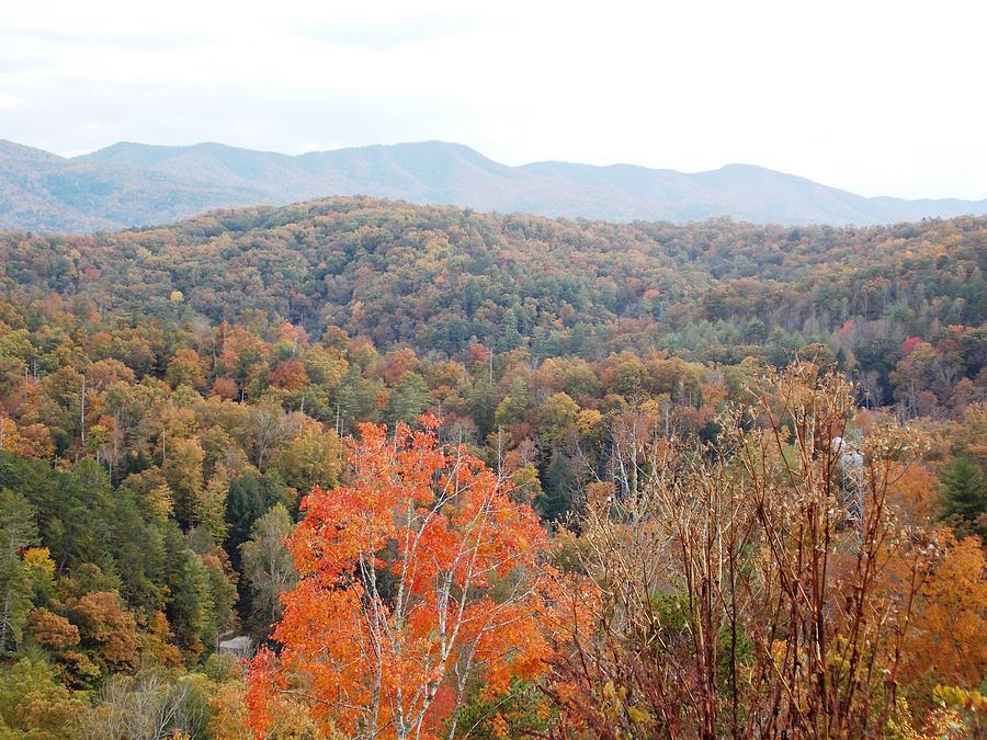 Orange Mountain Range Photograph