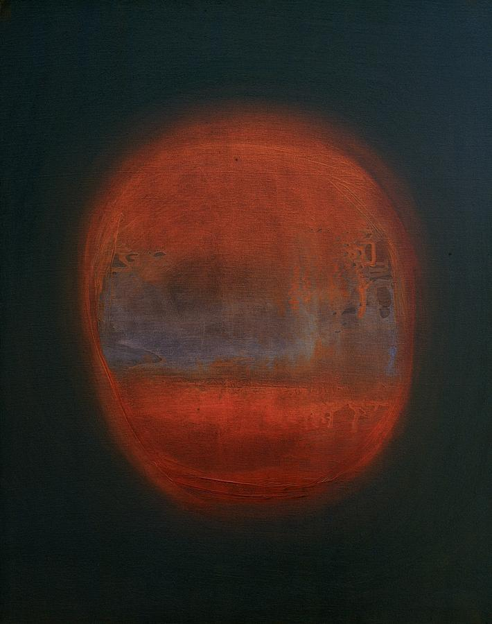 Orange Orb Painting