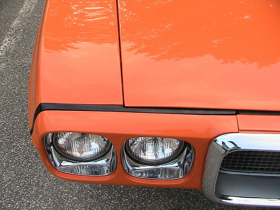 Orange Pontiac Photograph  - Orange Pontiac Fine Art Print