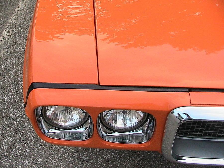 Pontiac Photograph - Orange Pontiac by Nancy Aikins