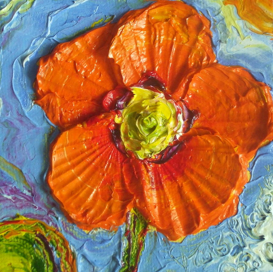 Orange Poppy II Painting  - Orange Poppy II Fine Art Print