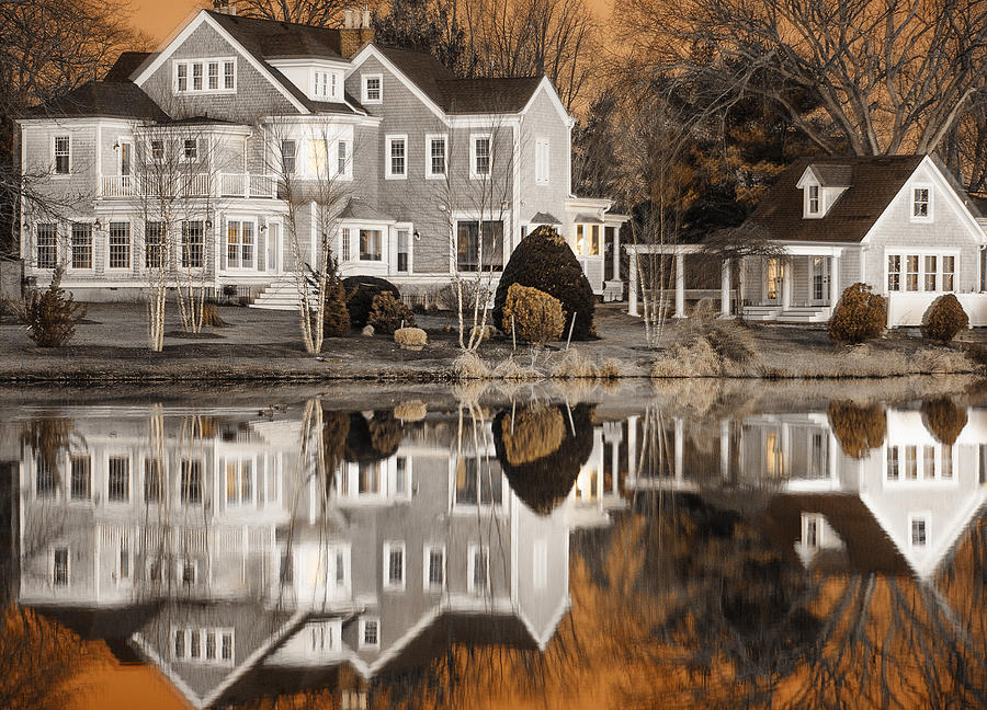 Orange Reflection Photograph