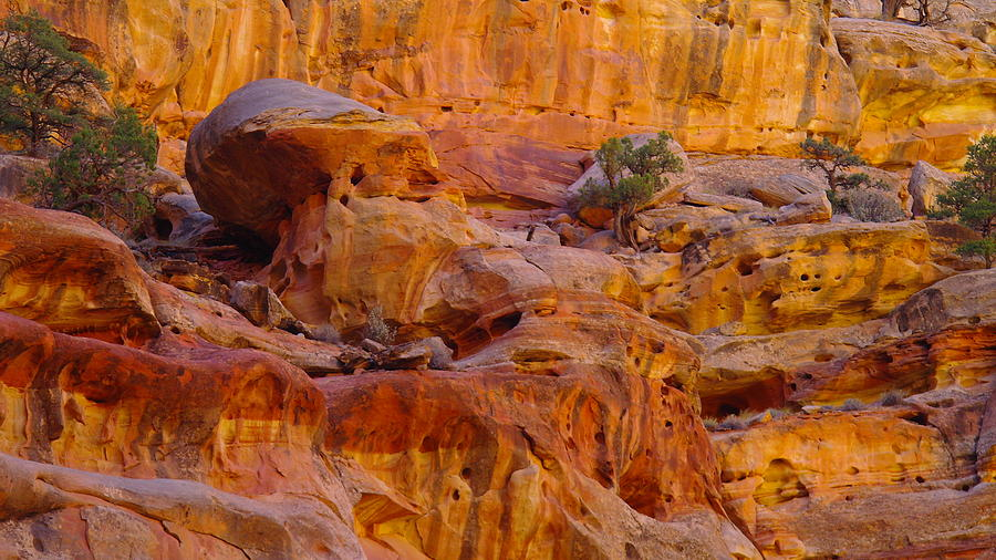 Orange Rock Formation Photograph