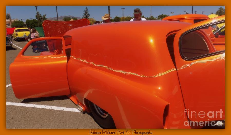 Orange Splash Panel Photograph  - Orange Splash Panel Fine Art Print