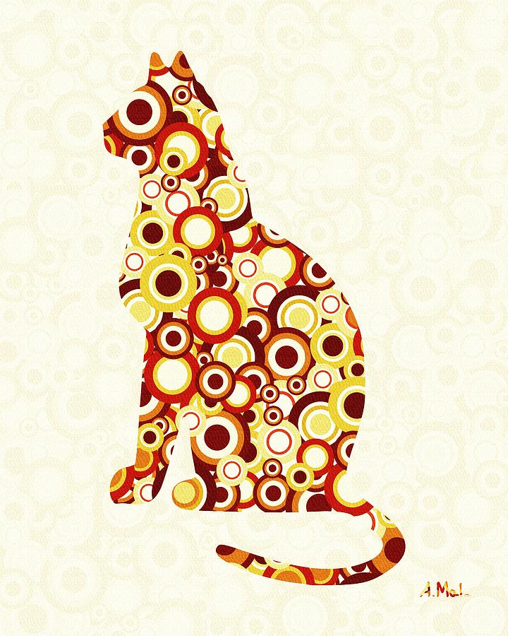 Orange Tabby - Animal Art Digital Art