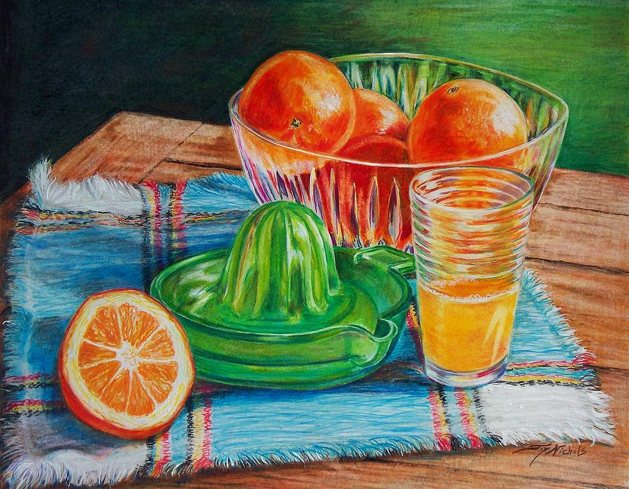 Oranges Drawing  - Oranges Fine Art Print