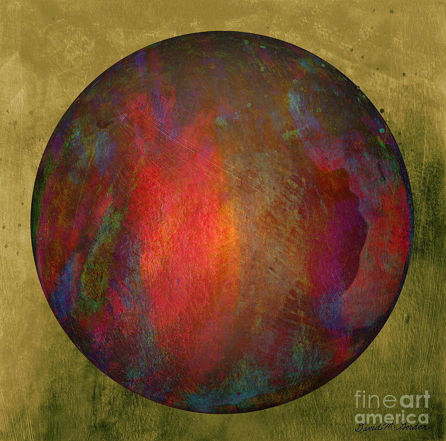 Orb Number Two Digital Art  - Orb Number Two Fine Art Print