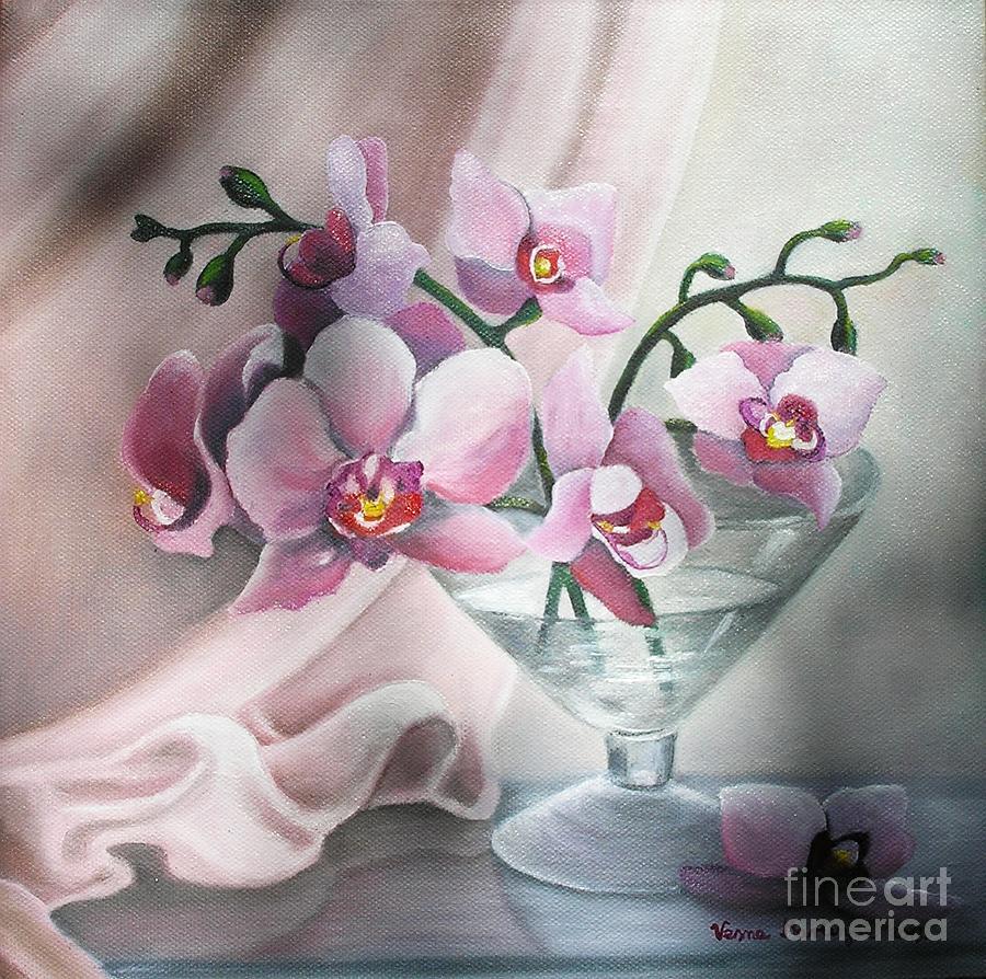 Still Life Painting - Orchids by Vesna Martinjak