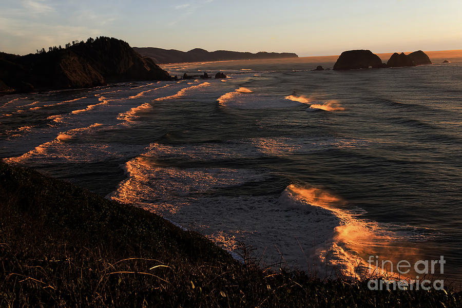 Oregon Coast At Sunset Photograph