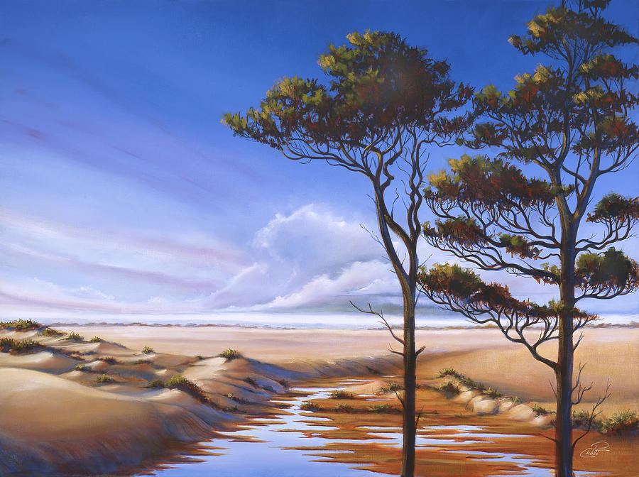 Oregon Dunes On The Coast Painting  - Oregon Dunes On The Coast Fine Art Print