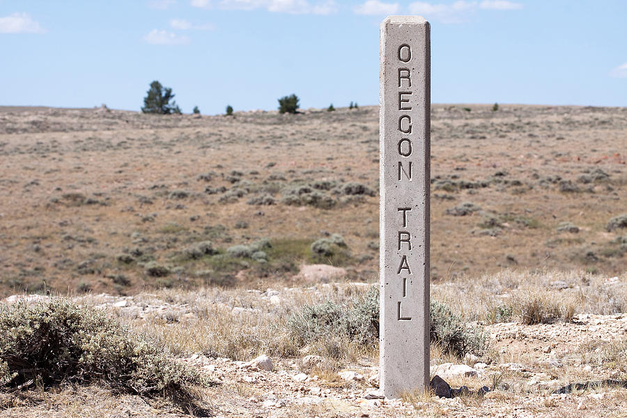 Oregon Trail Marker Photograph  - Oregon Trail Marker Fine Art Print