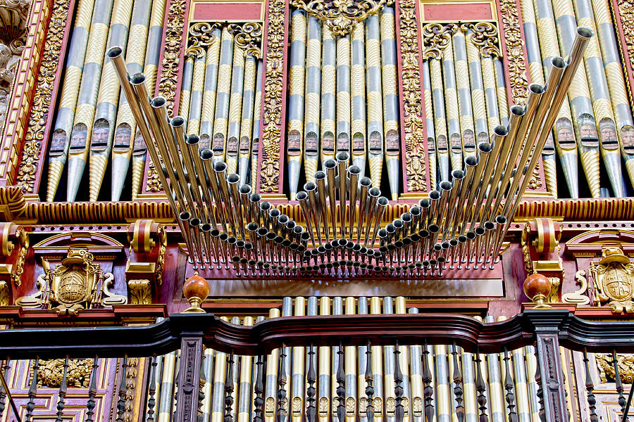 Organ In Cordoba Cathedral Photograph