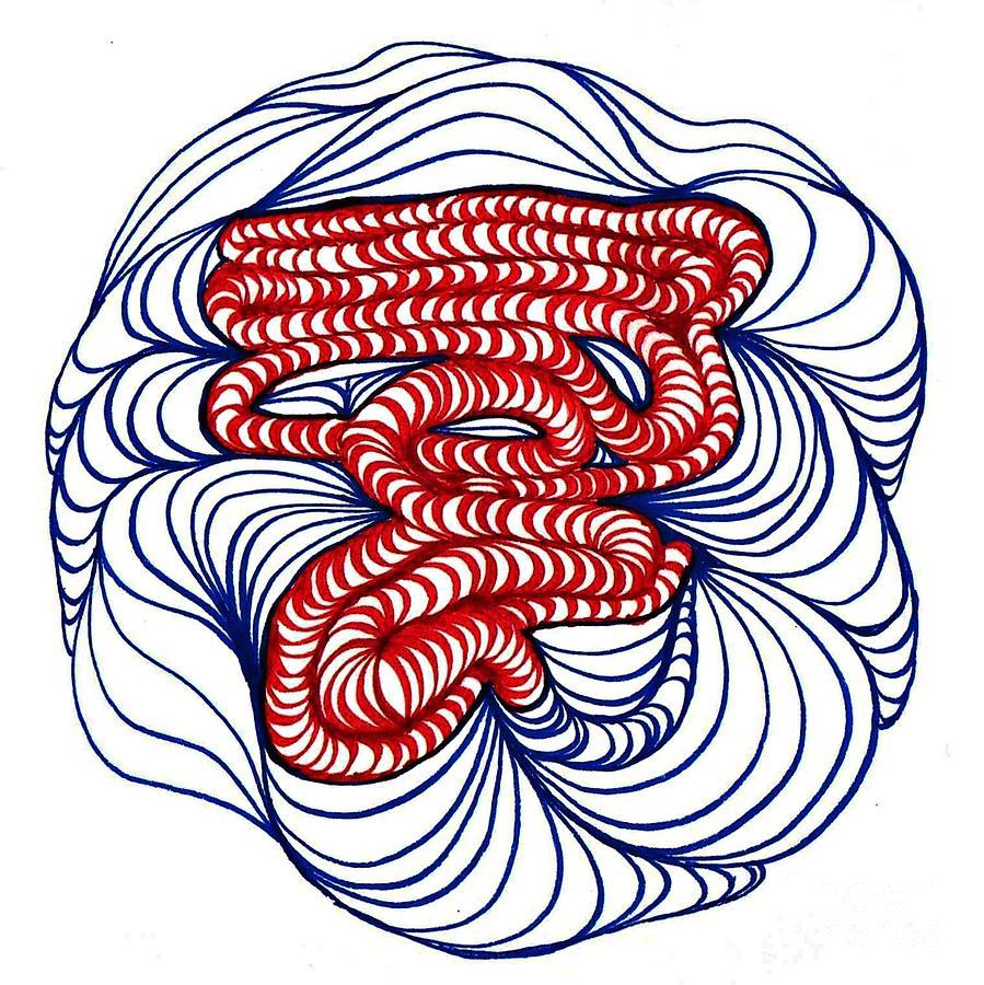 Organic Maze Drawing